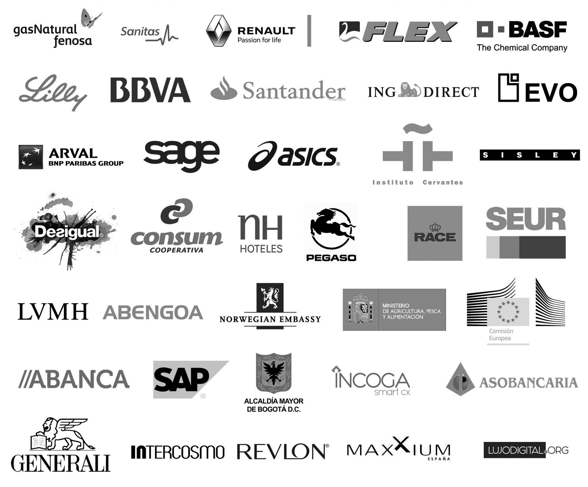 Listado de marcas que han trabajo con Elena Alfaro