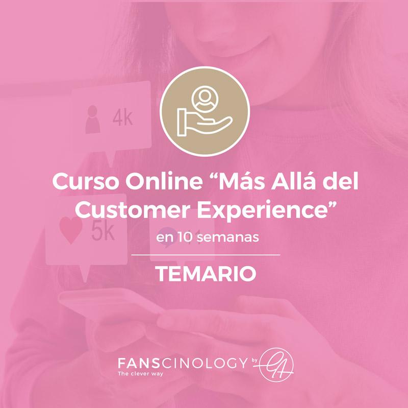 Portada Temario Curso Online Más Allá del Customer Experience